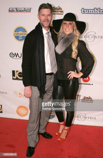 Slade Smiley and TV personality Gretchen Rossi attend the STYLE360 presentation of Malan Breton Fantome Fall 2012 Collection at the Metropolitan...