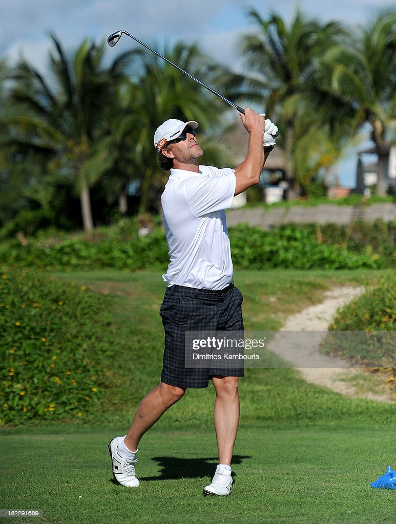 <a gi-track='captionPersonalityLinkClicked' href=/galleries/search?phrase=Slade+Smiley&family=editorial&specificpeople=3202858 ng-click='$event.stopPropagation()'>Slade Smiley</a> attends the Golf Clinic with Greg Norman and Golf Tournament during Day Three of the Sandals Emerald Bay Celebrity Getaway And Golf Weekend on September 29, 2013 at Sandals Emerald Bay in Great Exuma, Bahamas.