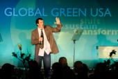 Slam poet Steve Connell performs at Global Green USA's 12th Annual Green Cross Millennium Awards on June 14 2008 in Santa Monica California