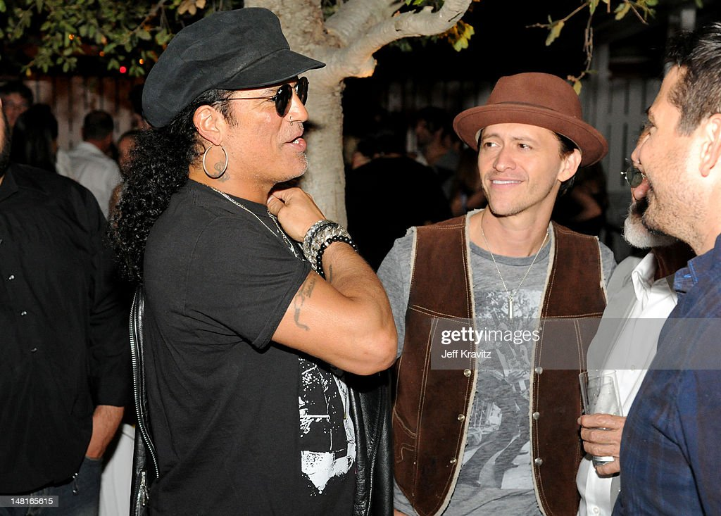 Slash and Clifton Collins atttend the official after party for Slahs's Hollywood Walk Of Fame star ceremony at Fairmont Miramar Hotel on July 10, 2012 in Santa Monica, California.
