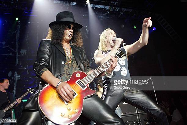 Slash and Dee Snyder perform with Camp Freddy during the 2003 Blender Rock the Vote Awards afterparty at the Roseland Ballroom February 22 2003 in...