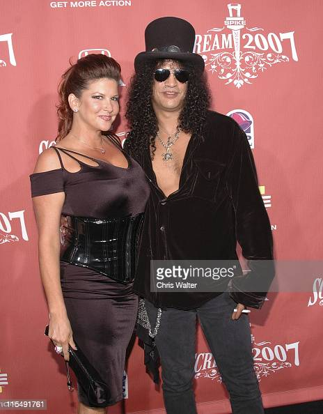 Slash and wife arrive at Spike TV's 'Scream 2007' held at The Greek Theatre on October 19 2007 in Los Angeles California