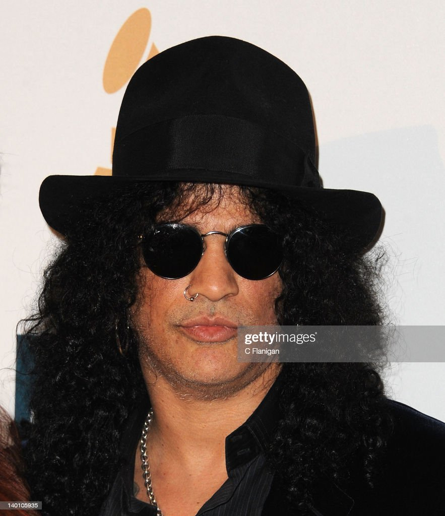 Slash arrives at Clive Davis and The Recording Academy's 2012 Salute To Industry Icons Gala at The Beverly Hilton hotel on February 11, 2012 in Beverly Hills, California.