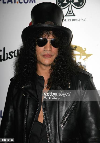 Slash of Guns and Roses arrive for the Classic Rock Roll of Honour at the Park Lane Hotel on November 3 2008 in London