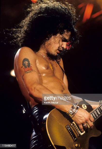 Slash of Guns N Roses performs live at Rock In Rio II on January 15 1991 in Rio De Janeiro Brazil