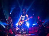 Slash performs for the 'Slash featuring Myles Kennedy and The Conspirators concert' at Terminal 5 on May 7 2015 in New York City