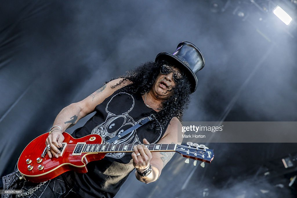 Slash performs on Day 8 of the RBC Royal Bank Bluesfest on July 11, 2014 in Ottawa, Canada.