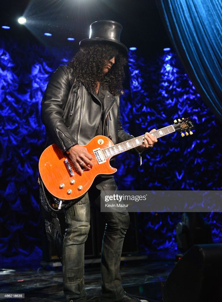 Slash performs onstage 'Howard Stern's Birthday Bash' presented by SiriusXM, produced by Howard Stern Productions at Hammerstein Ballroom on January 31, 2014 in New York City.