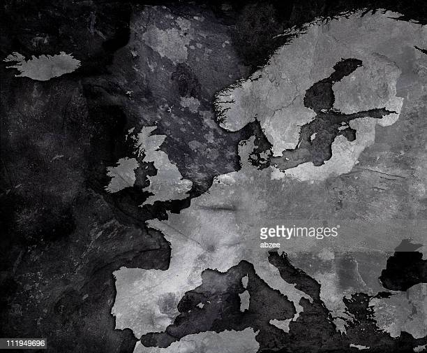 Slate map of Europe