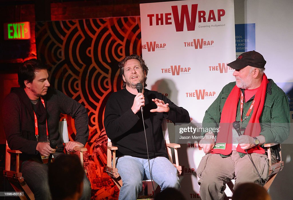Slated co-founder and CEO Duncan Cork, Maker Studios Chief Development Officer Chris M. Williams and director Rick Rosenthal speak during UCLA and The Wrap Sundance 2013 Panel at The Claim Jumper on January 21, 2013 in Park City, Utah.