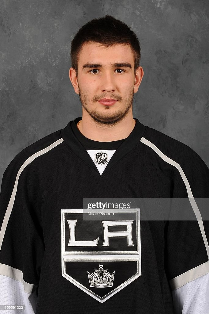 Slava Voynov #26 of the Los Angeles Kings poses for his official headshot for the 2012-2013 season on January 12, 2013 at Staples Center in Los Angeles, California.