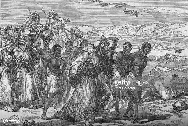 Slave Gang Crossing The African Desert' circa 188185 Episode of the Mahdist War From British Battles on Land and Sea Vol IV by James Grant [Cassell...
