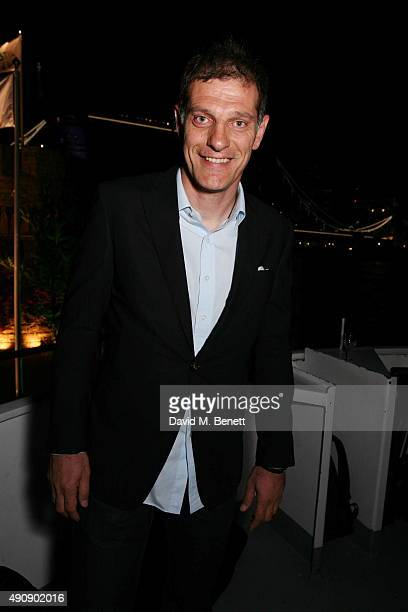 Slaven Bilic attends the Croatia 'Full of Life' Floating Island Party on Erasmus in Butler's Wharf on October 1 2015 in London England
