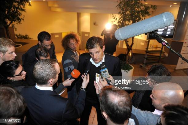 Slaven Bilic head coach of Croatia talks to the media during the FIFA World Cup Group A Fixture Meeting on November 23 2011in BrusselsBelgium The...