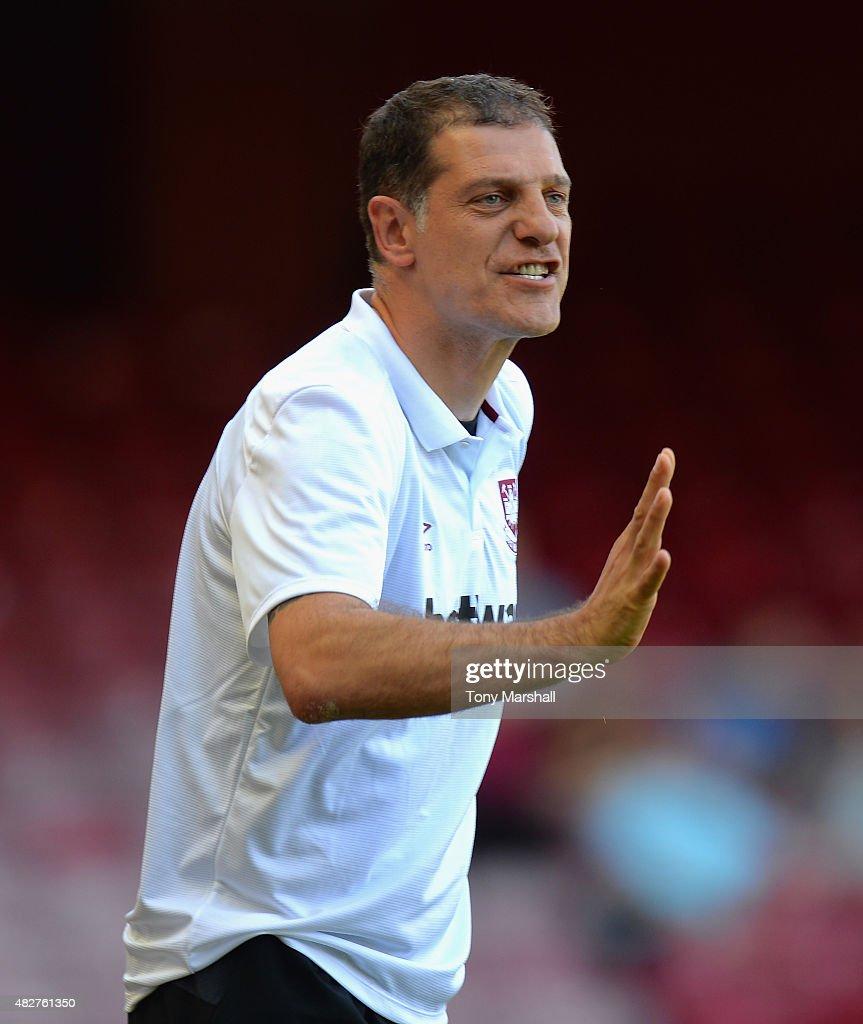 Slaven Bilic, Head Coach of West Ham United during the Betway Cup match between West Ham Utd and SV Werder Bremen at Boleyn Ground on August 2, 2015 in London, England.