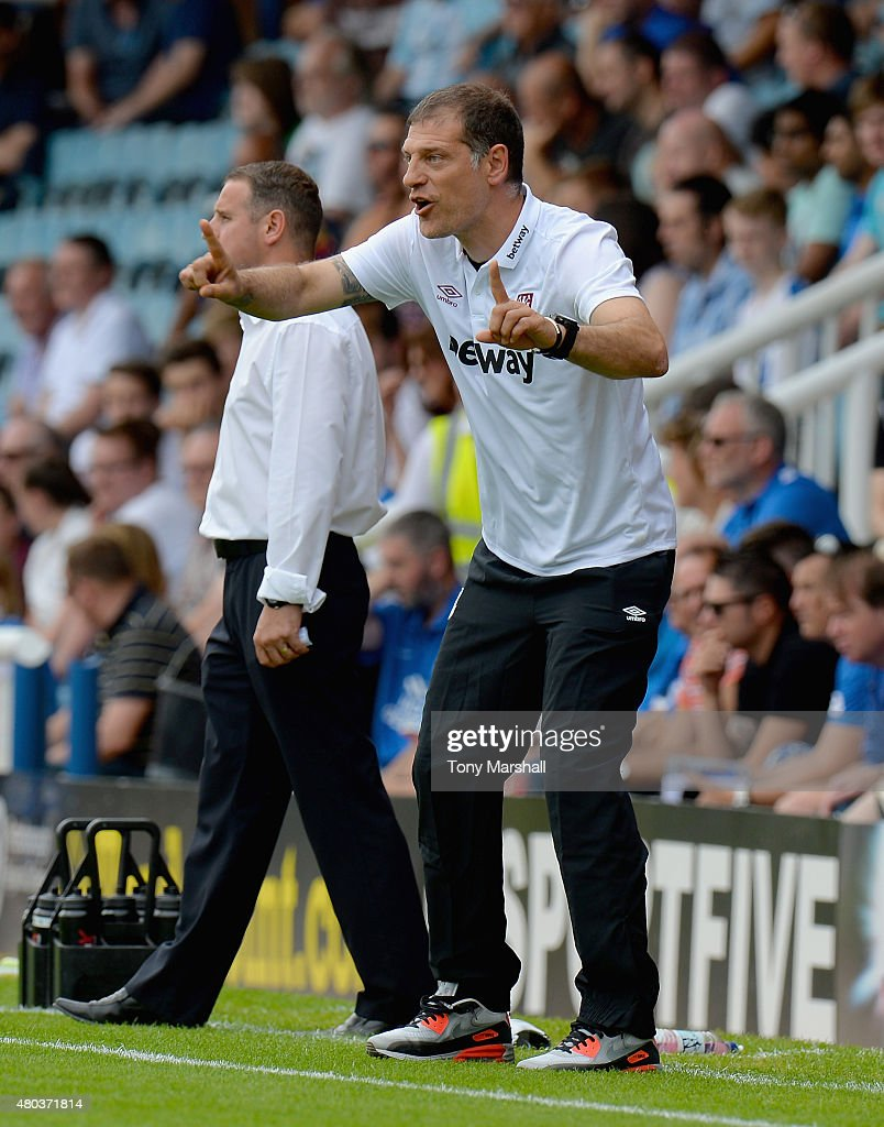 Slaven Bilic, Manager of West Ham United during the Pre Season Friendly match between Peterborough United and West Ham United at London Road Stadium on July 11, 2015 in Peterborough, England.