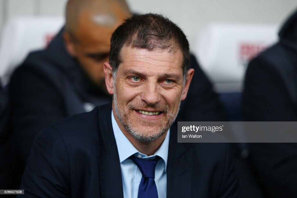 Slaven Bilic manager of West Ham United looks on prior to the Barclays Premier League match between West Bromwich Albion and West Ham United at The Hawthorns on April 30, 2016 in West Bromwich, England.