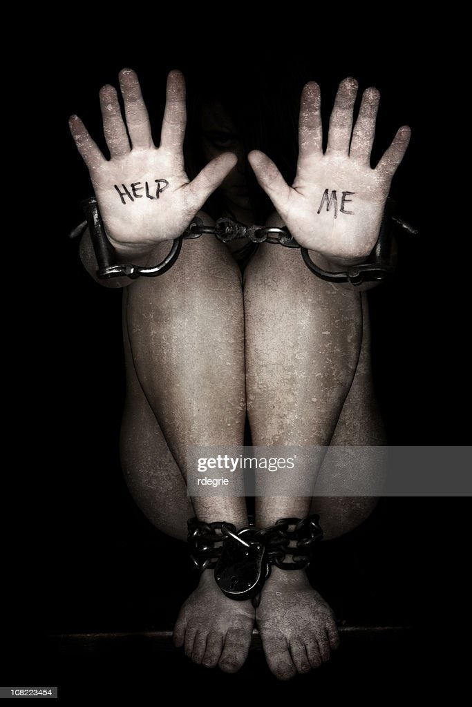 Slavery - Human Trafficking : Stock Photo