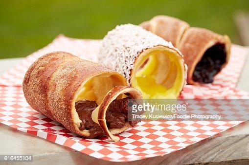 Slavic Dessert Rolls : Stock Photo