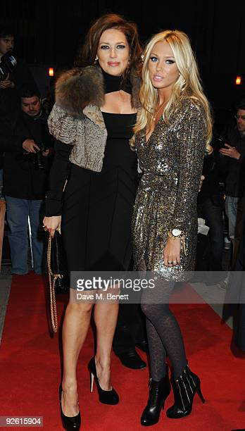 Slavica and Petra Ecclestone attend the opening party of The Red Room on November 2 2009 in London England