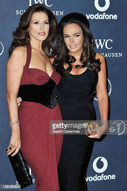 Slavica Ecclestone and Tamara Ecclestone attend the 2012 Laureus World Sports Awards at Central Hall Westminster on February 6 2012 in London England