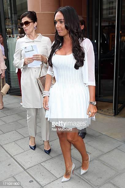 Slavica Ecclestone and Tamara Ecclestone seen at C restaurant after celebrating Petra's baby's christening on June 21 2013 in London England