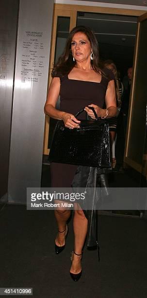 Slavica Ecclestone at Nobu Berkeley to celebrate Tamara Ecclestone's birthday on June 28 2014 in London England