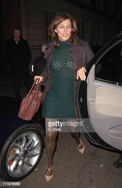 Slavica Ecclestone during Celebrity Sightings at Cipriani's Restaurant in London November 28 2005 at Cipriani's Restaurant in London Great Britain