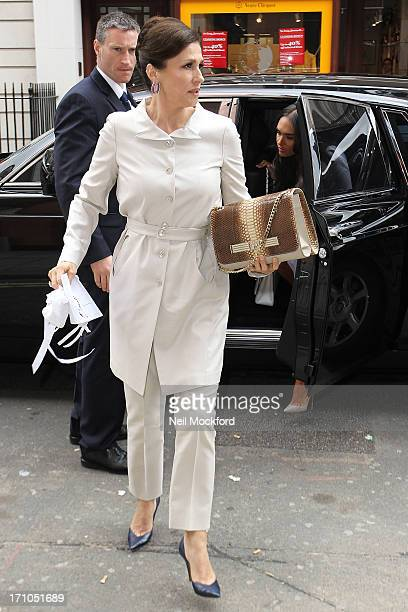 Slavica Ecclestone seen at C restaurant after celebrating Petra's baby's christening on June 21 2013 in London England
