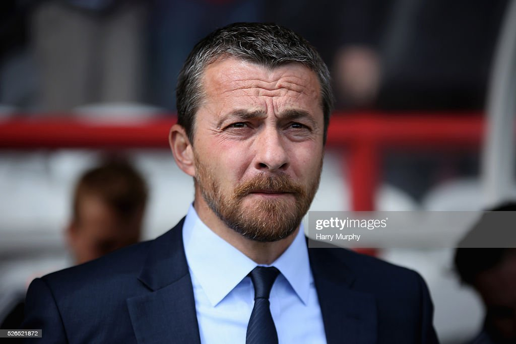Slavisa Jokanovic, manager of Fulham looks on prior to the Sky Bet Championship match between Brentford and Fulham at Griffin Park on April 30, 2016 in Brentford, United Kingdom.
