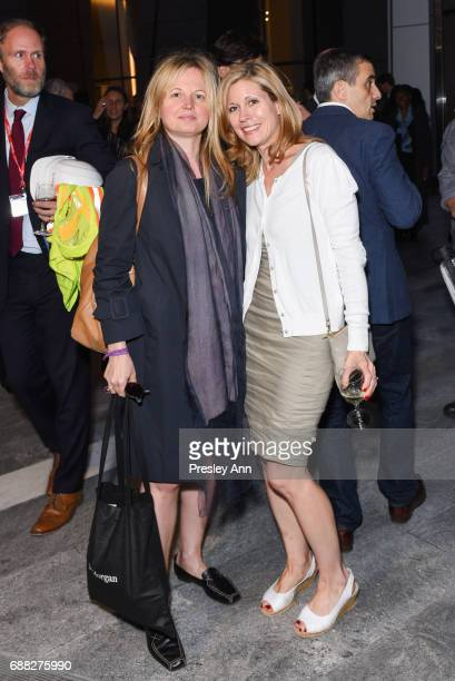 Slavka Glasser and Kathryn SpellmanPoots attend The Shed First Reveal VIP Cocktail Party at The Shed on May 24 2017 in New York City