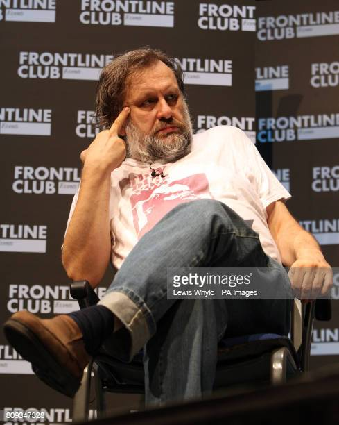 Slavoj Zizek at a talk at the Troxy in east London where the WikiLeaks founder focused on the impact of his website on the world and what it means...