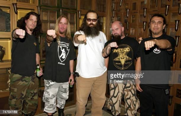 Slayer with producer Rick Rubin at the Hollywood Forever Cemetery in Hollywood California