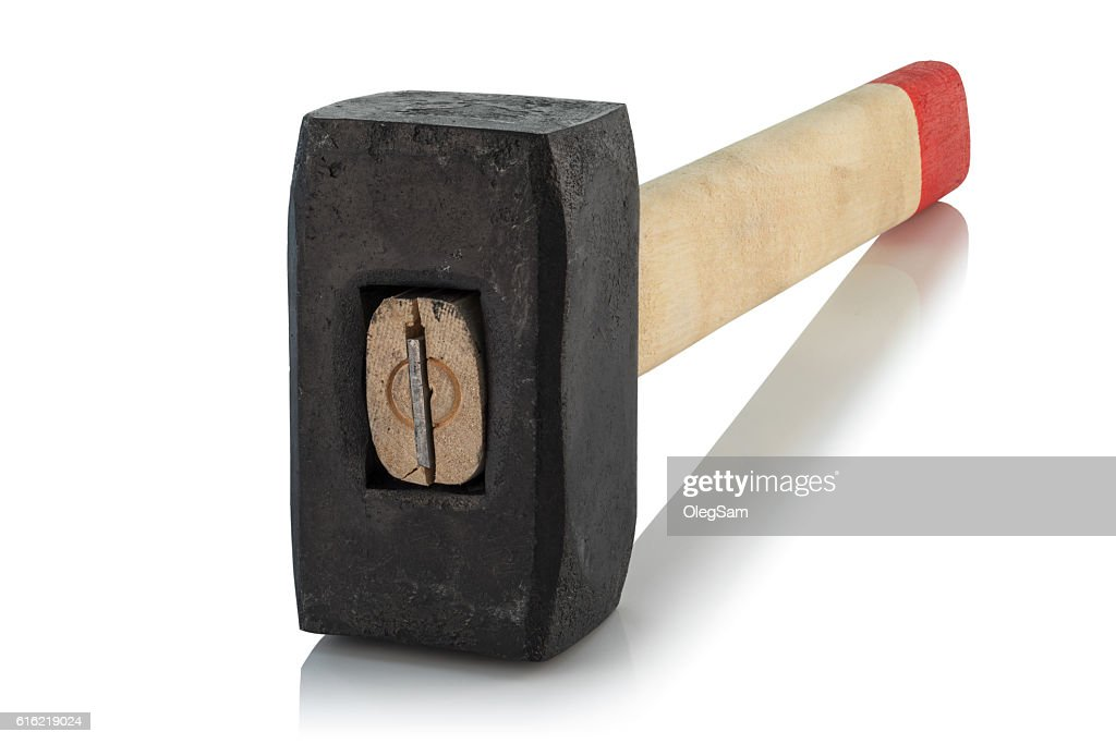 sledge hammer with wooden handle : Foto stock
