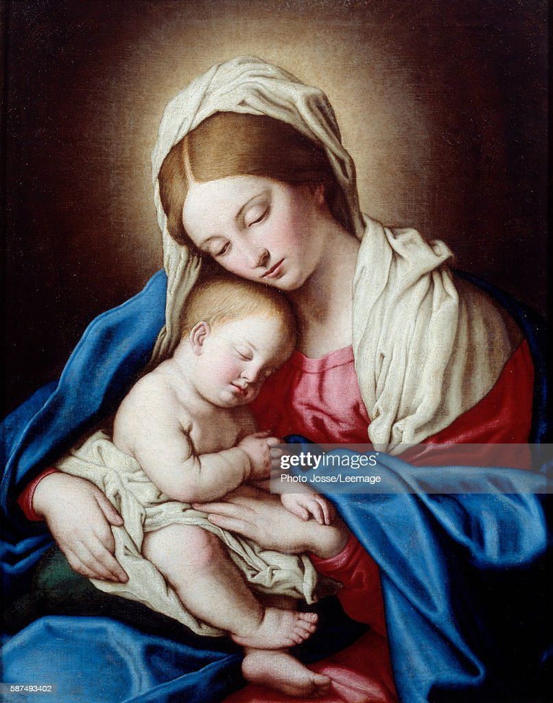 sleep of the child jesus by sassoferrato pictures getty images