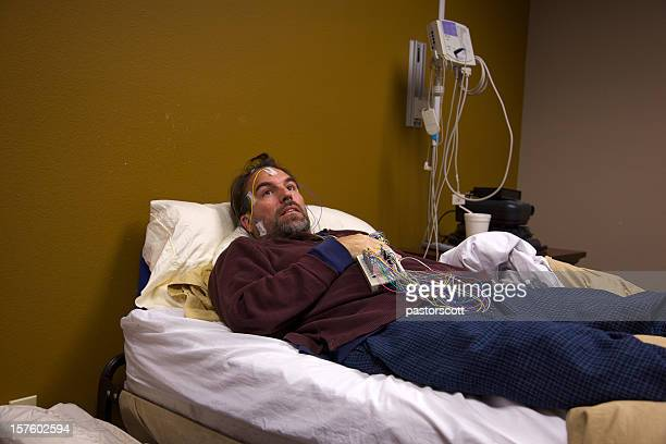 Sleep Study Patient in Room