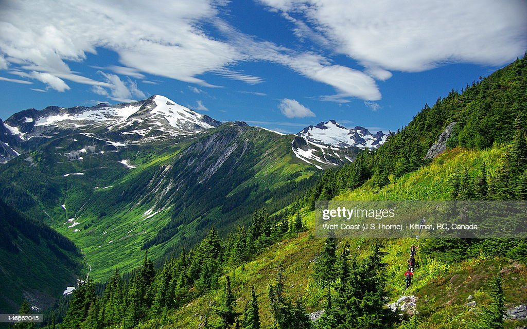 Sleeping beauty mountain near terrace bc stock photo for Terrace british columbia