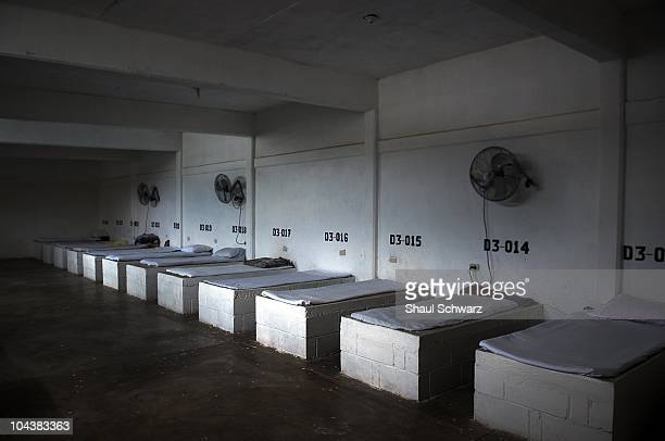 Sleeping beds of members of 'You Can Live without Addictions' program in the prison where thousands of inmates are detained in Culiacan the capitol...