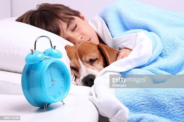 Schlafen und Freunden
