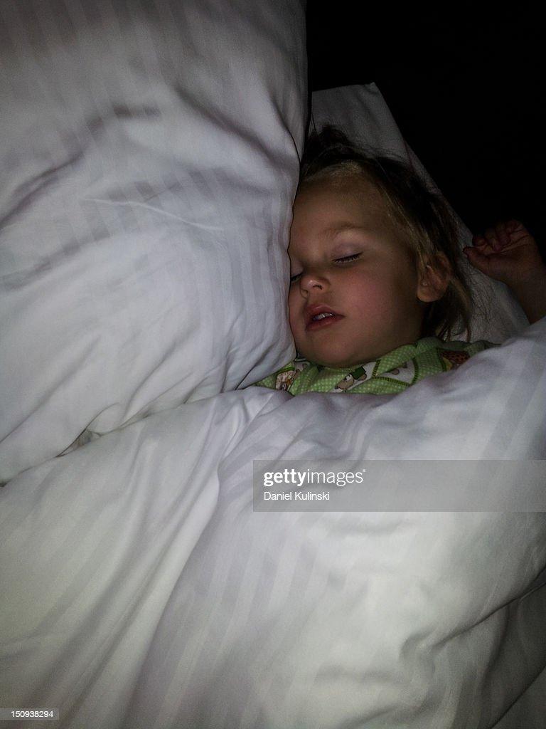 Sleeping girl : Stock Photo
