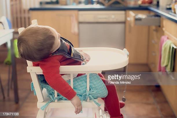 Sleeping in the kitchen