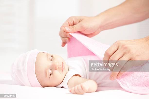 Schlafen baby neu geboren.