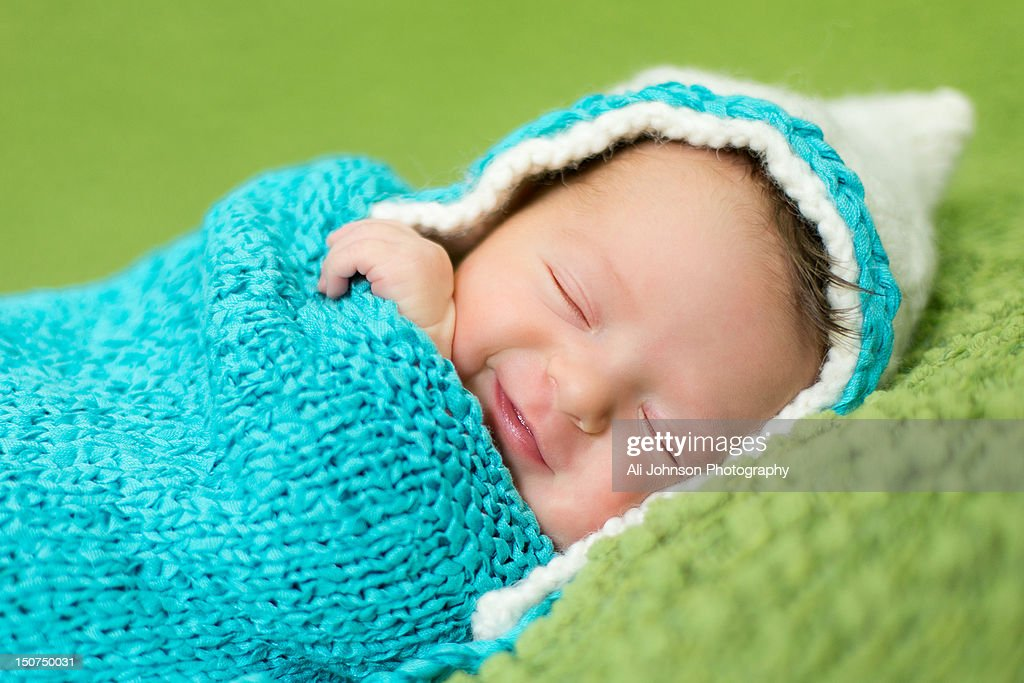 Sleeping newborn girl : Stock Photo