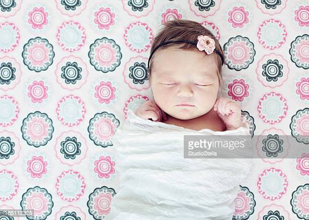 Sleeping Newborn in crib