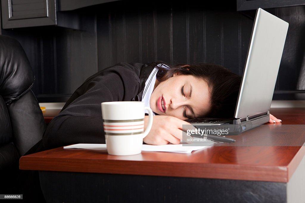 Sleeping On The Job : Stock Photo