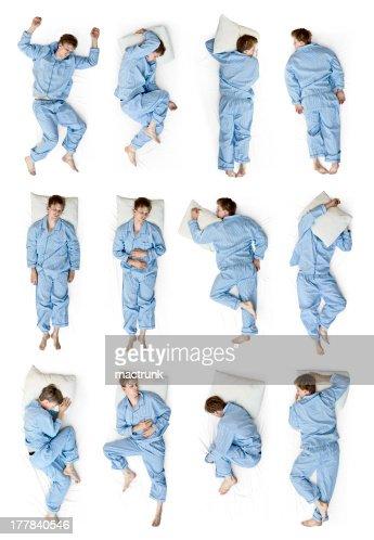 Dormitorio posiciones : Foto de stock