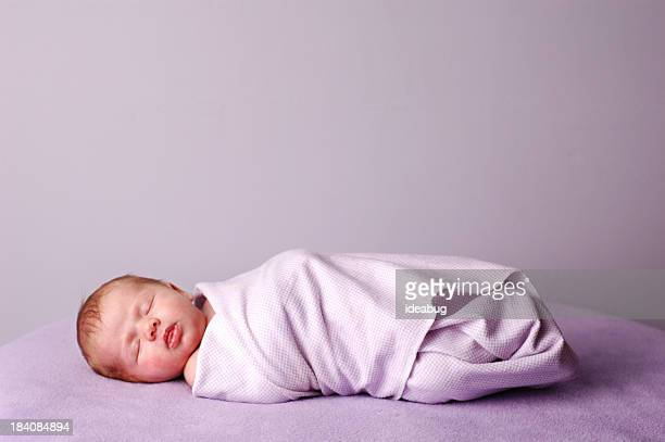 Sleeping, Swaddled Newborn