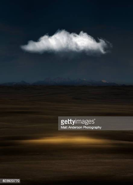 Sleeping Visions - A single cloud in the night Utah sky.