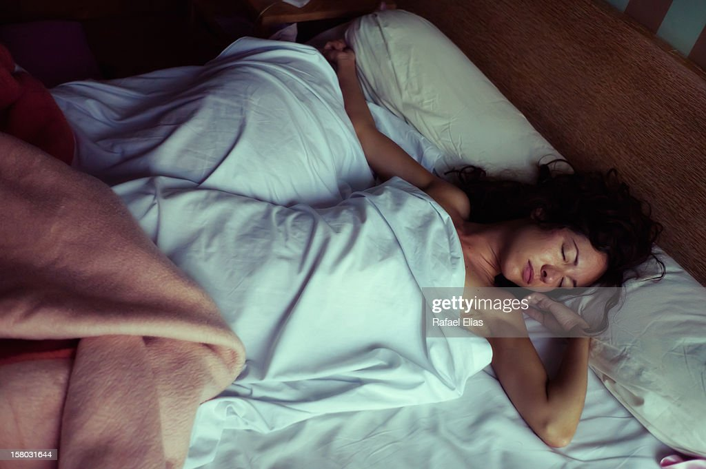 Sleeping woman : Stock Photo