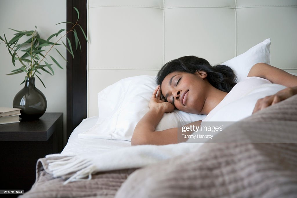 Sleeping woman : Foto de stock